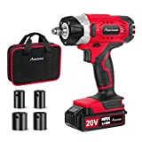 """20V MAX Cordless Impact Wrench with 1/2"""" Chuck, Max Torque 2213 in-lbs, 4Pcs Driver Impact Sockets, Tool Bag and 1.5A Li-ion Battery, Avid Power MCIW326"""