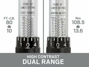 high contrast dual range 10-80 ft lb