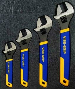GRIP Adjustable Wrench Set