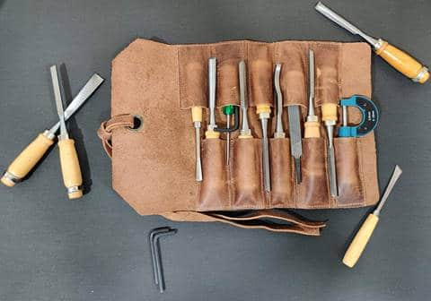 Leather Tool Roll Up